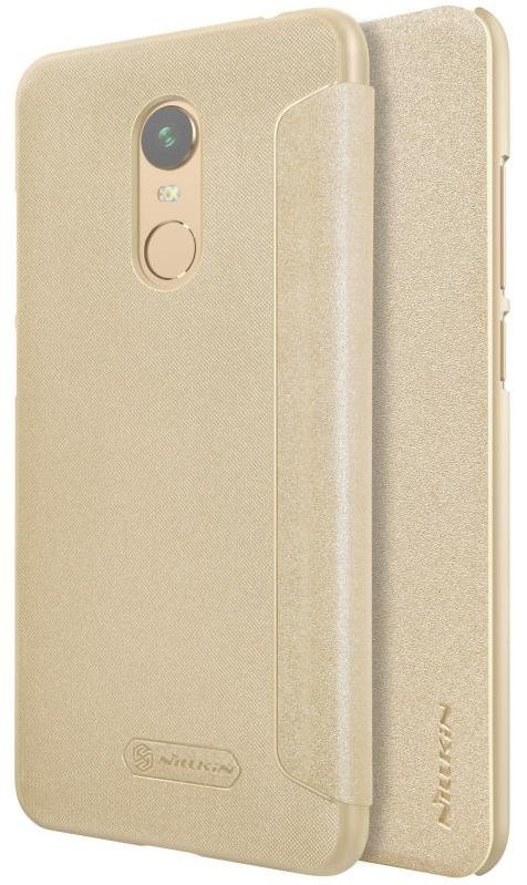 Чехол Nillkin Sparkle Leather case Xiaomi 5 Plus - Gold, картинка 4