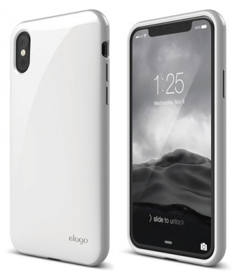 Чехол Elago для iPhone X Cushion Hard TPU белый, слайд 1