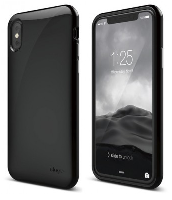Чехол Elago для iPhone X Cushion Hard TPU чёрный