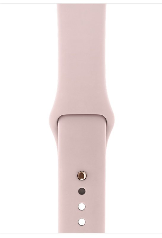Часы Apple Watch Series 3 GPS 38mm Gold Aluminum case with Pink Sand Sport Band (MQKW2), картинка 3