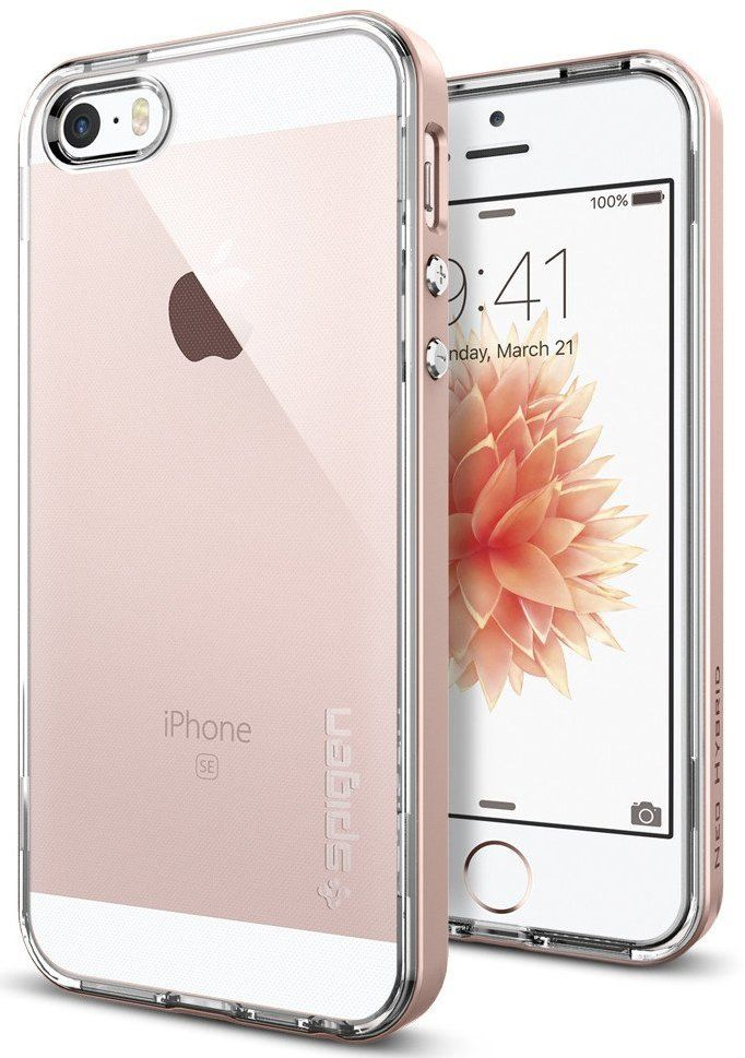 Чехол SGP  iPhone 5/5S Neo Hybrid Crystal - Rose Gold, картинка 1
