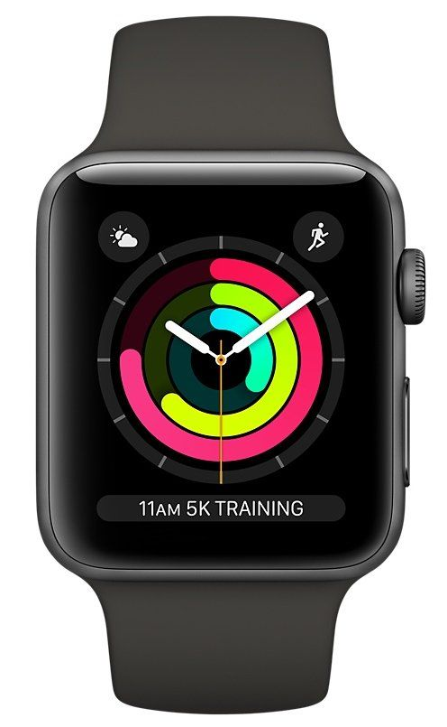 Часы Apple Watch Series 3 GPS 42mm Space Gray Aluminum case with Gray Sport Band (MR362), картинка 2