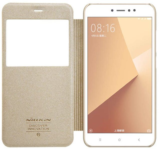 Чехол Nillkin Sparkle Leather case Xiaomi Note 5 - Gold, картинка 3