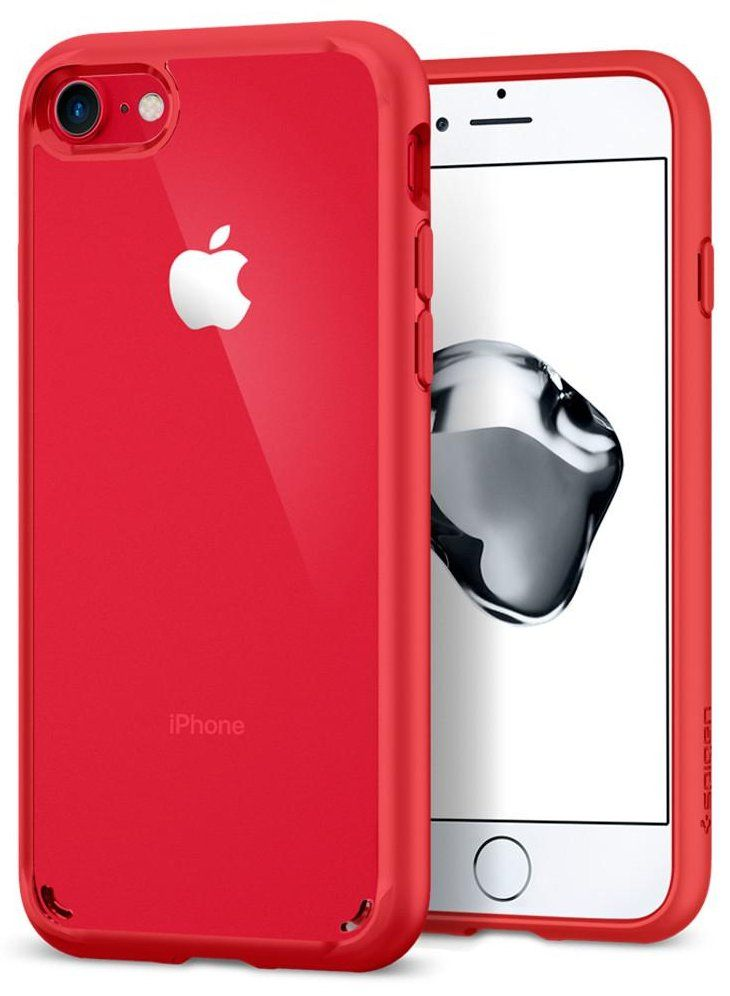 Чехол SGP iPhone 7 Ultra Hybrid 2 Red, картинка 1