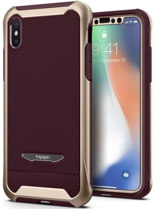 Чехол SGP iPhone X/XS Reventon Metallic Gold