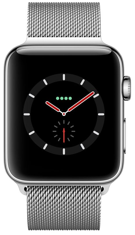 Часы Apple Watch S3 (GPS+LTE) 42mm Stainless Steel Case/Milanese Loop (MR1J2), картинка 2