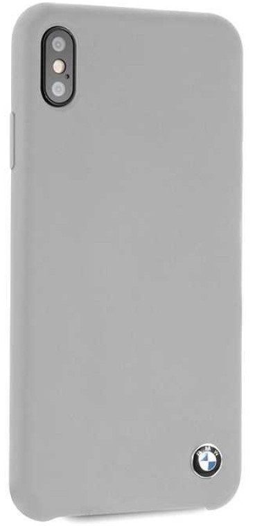 Чехол BMW iPhone X Signature Liquid Silicone Hard TPU Gray, картинка 3