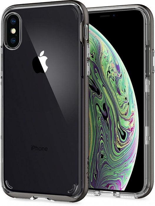 Чехол SGP iPhone X/XS Neo Hybrid Crystal Gunmetal