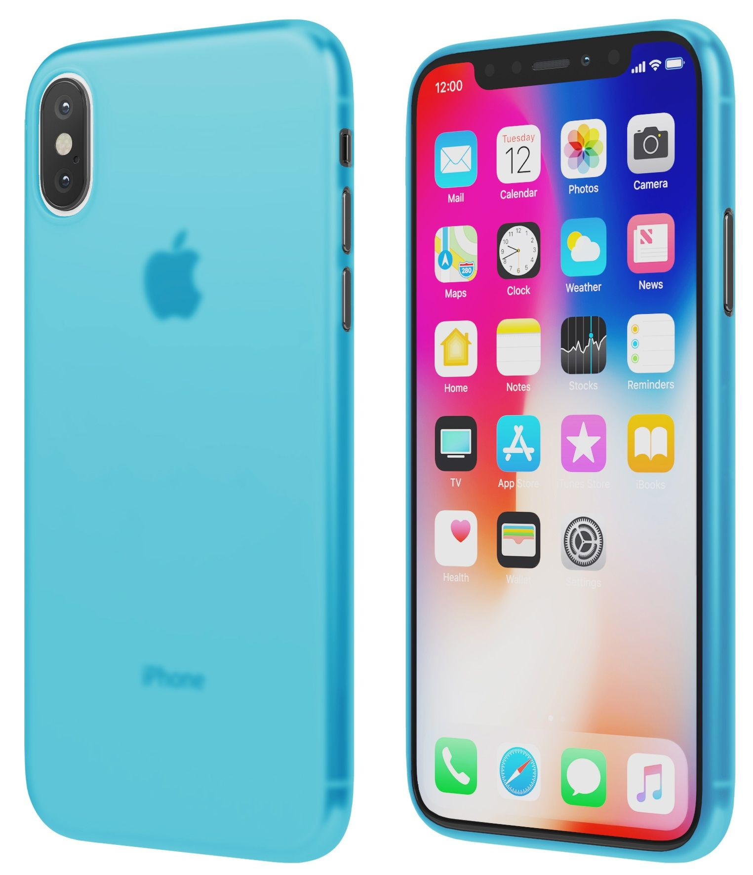 Чехол VIPE Flex iPhone X Ultra Slim 0.3 - Blue