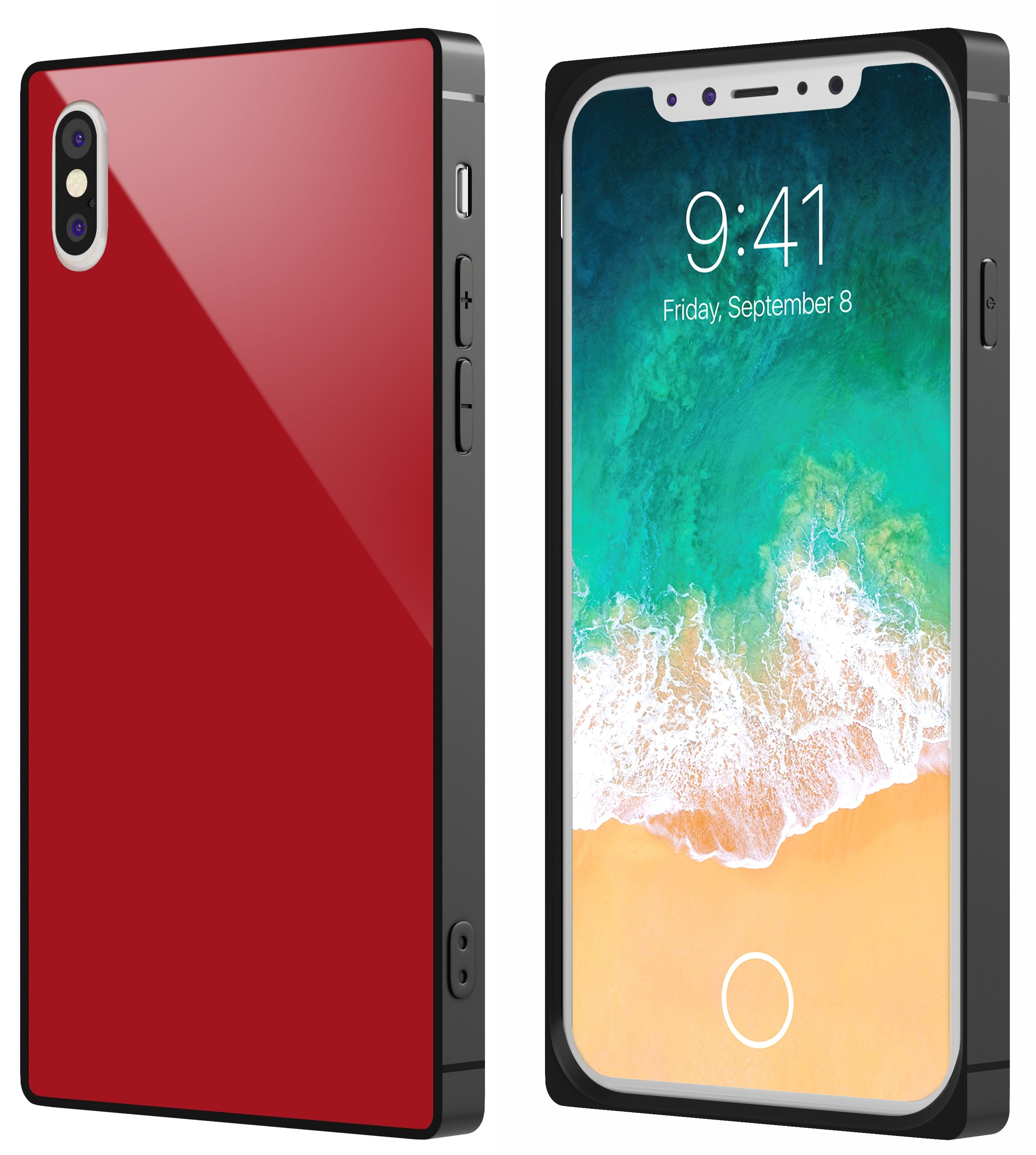 Чехол VIPE Glass Phone X - Red