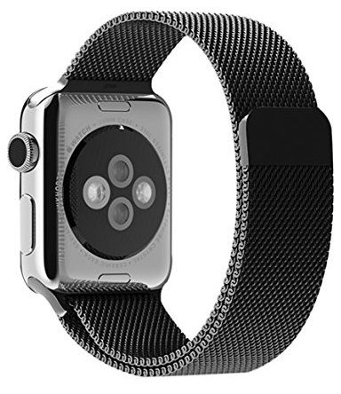Ремешок для Apple Watch 42/44mm Milanese Black, слайд 1