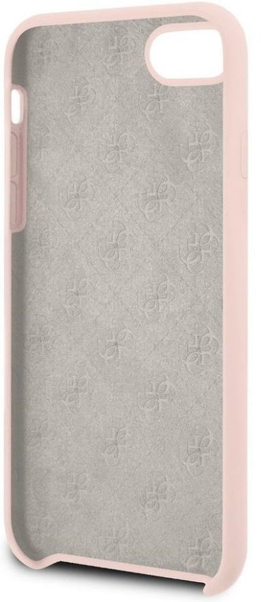 Чехол GUESS iPhone 7/8 Silicone Collection Light Pink, картинка 4
