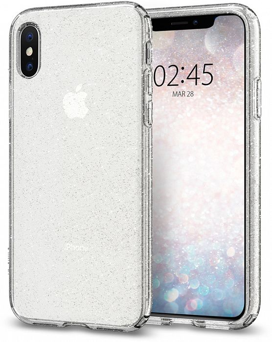 Чехол SGP iPhone X/XS Liquid Crystal Glitter Crystal Quartz