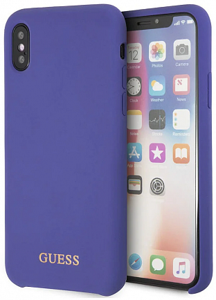 Чехол GUESS iPhone X/XS Silicone Collection Purple