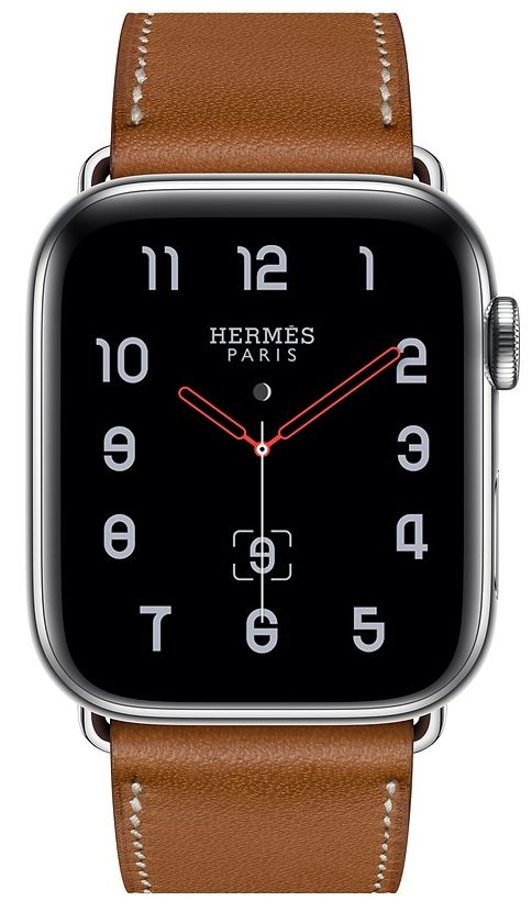 Часы Apple Watch Hermès Series 4 GPS + Cellular 40mm Stainless Steel case with Fauve Grained Barenia Leather (MU6M2), картинка 2