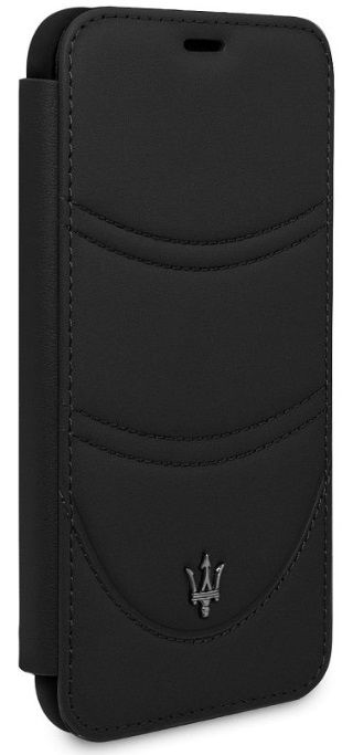 Чехол Maserati iPhone X/XS Granlusso Leather Bookcase Black, картинка 4