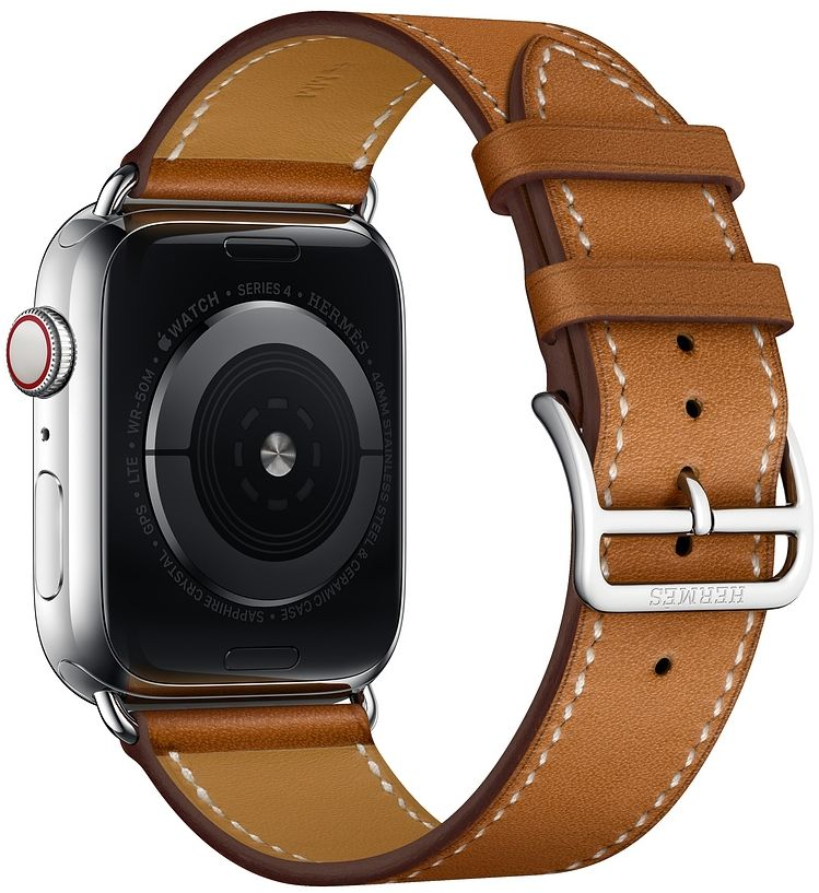 Часы Apple Watch Hermès Series 4 GPS + Cellular 40mm Stainless Steel case with Fauve Grained Barenia Leather (MU6M2), картинка 4