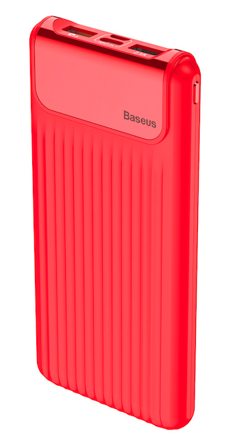 Внешний аккумулятор BASEUS Thin Digital Power Bank 10000 mAh Red
