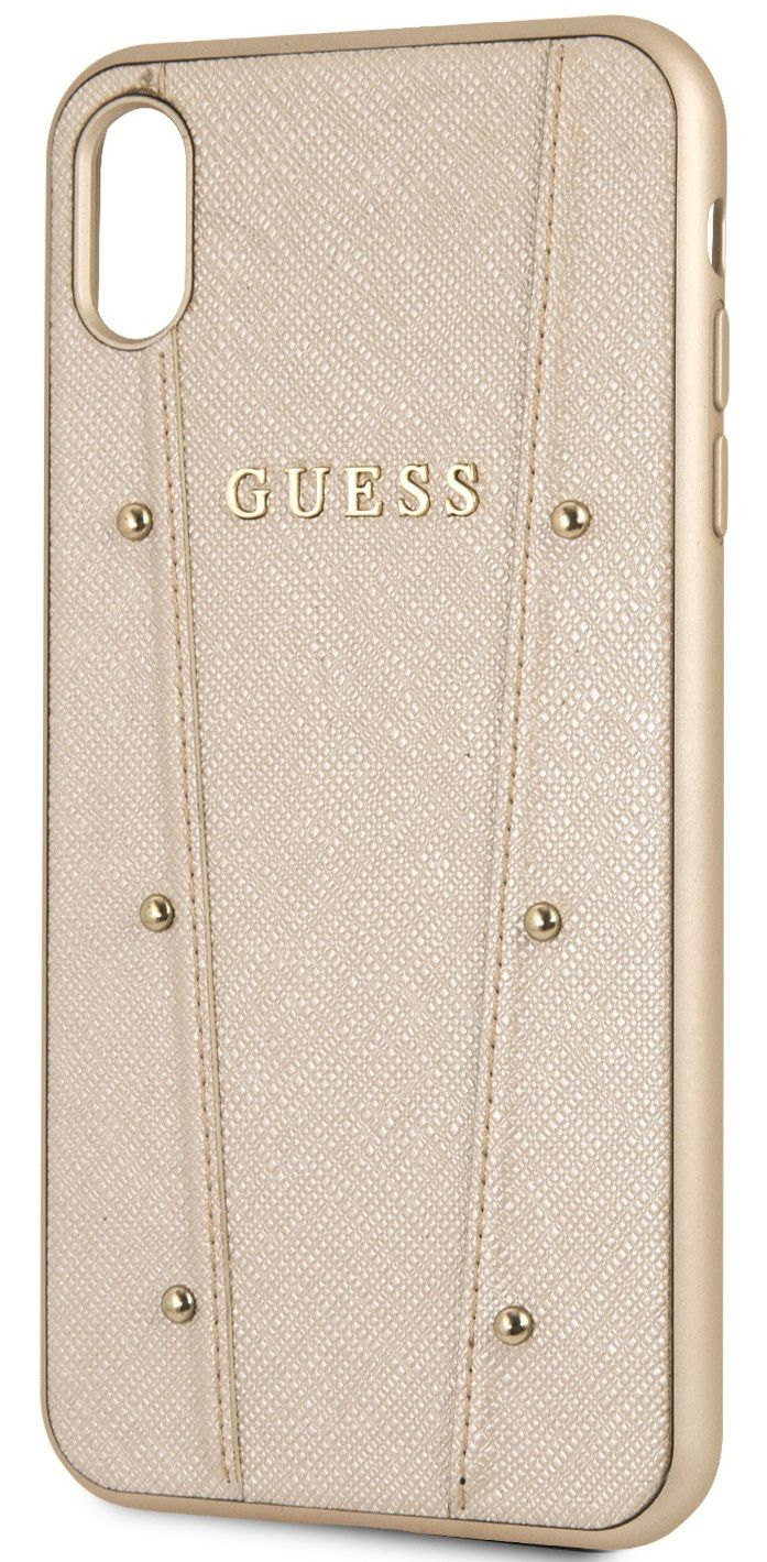 Чехол GUESS iPhone XS Max KAIA collection Hard золотой, слайд 3