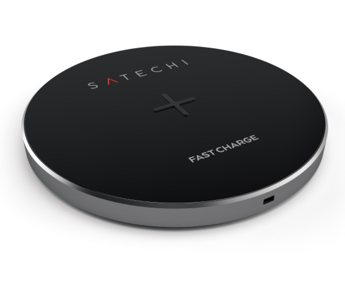 Беспроводное ЗУ SATECHI Wireless Charger Pad (Qi Fast Charge) - Space Grey, картинка 1