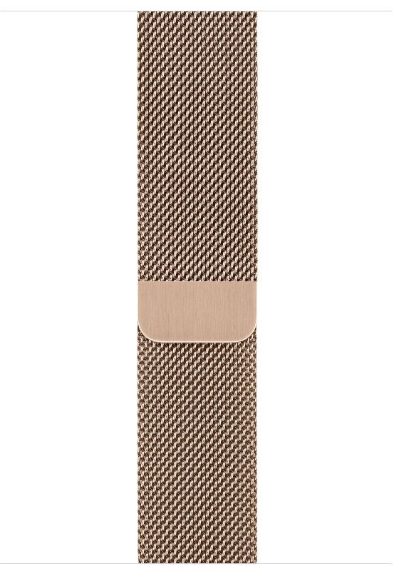 Часы Apple Watch S4 (GPS+LTE) 40mm Gold Stainless Steel / Gold Milanese Loop (MTUT2), картинка 3