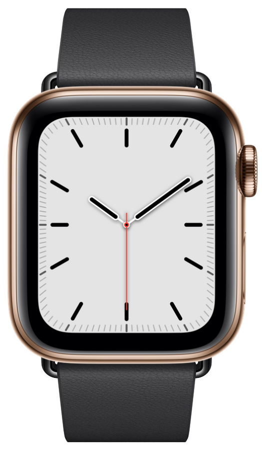 Часы Apple Watch S5 GPS+Cellular 40mm Gold Stainless Steel Case with Black Modern Buckle , картинка 1