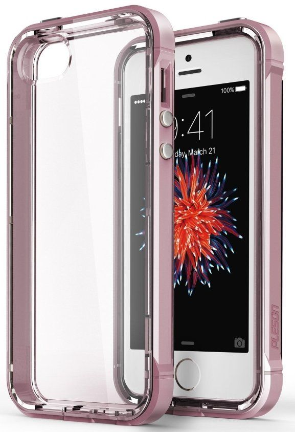 Чехол Pleson iPhone 5S/SE ISE Case - Clear/Pink