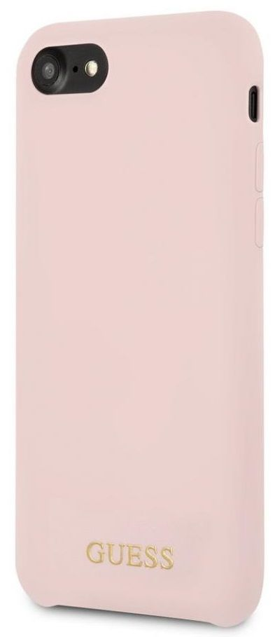 Чехол GUESS iPhone 7/8 Silicone Collection Light Pink, картинка 2