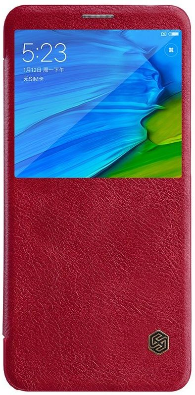 Чехол кожаный Nillkin QIN Leather case Xiaomi Note 5 - Red