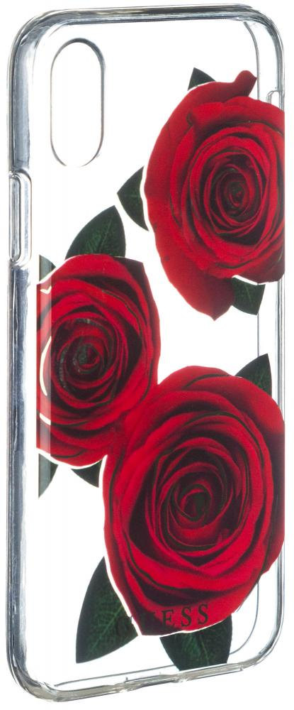 Чехол Guess iPhone X Flower desire Roses Red, картинка 2