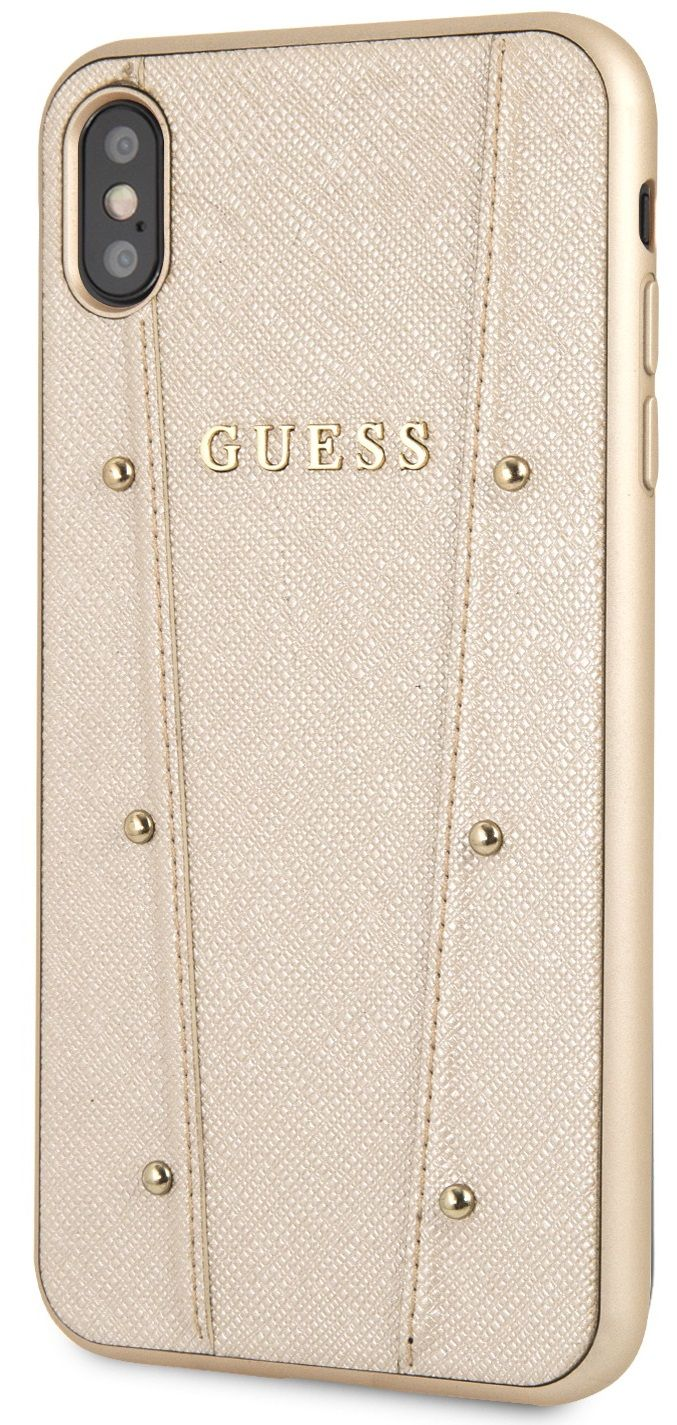 Чехол GUESS iPhone XS Max KAIA collection Hard золотой, слайд 2