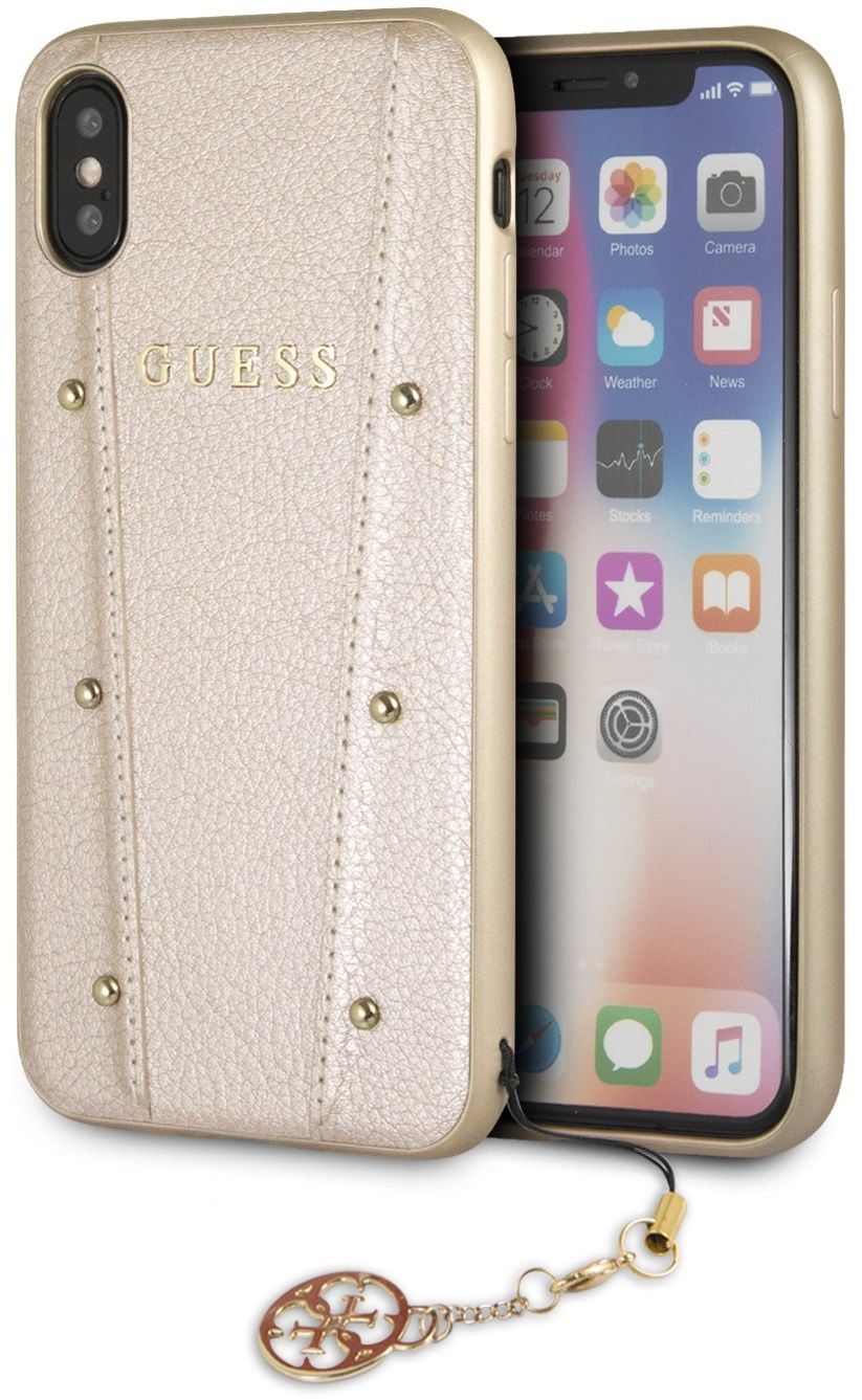 Чехол GUESS iPhone X/XS KAIA collection Hard золотой