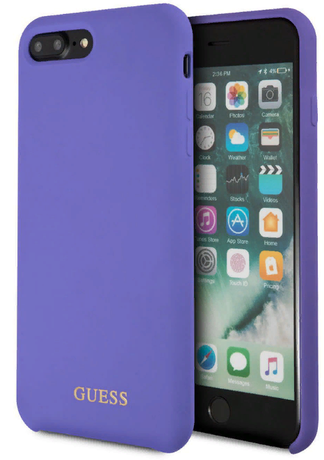 Чехол GUESS iPhone 7/8 Plus Silicone Collection Hard Purple