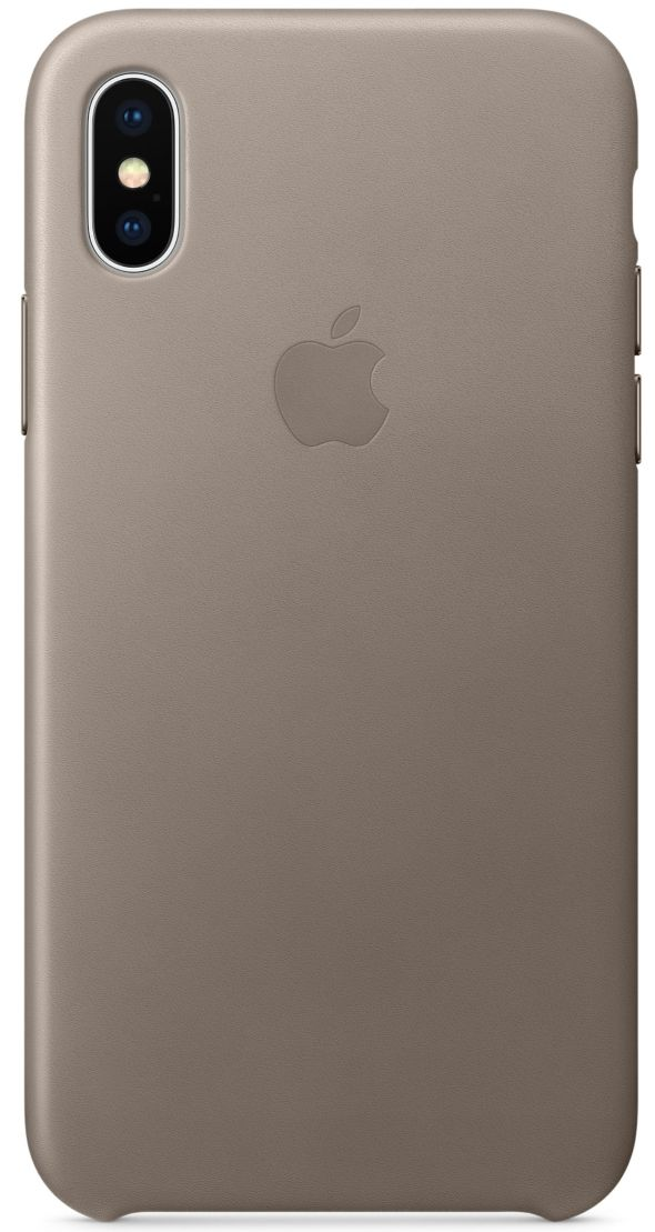 Кожаный чехол Apple iPhone X Leather Case Taupe