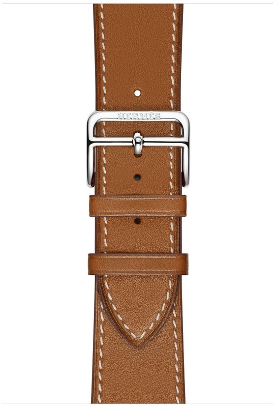 Часы Apple Watch Hermès Series 4 GPS + Cellular 40mm Stainless Steel case with Fauve Grained Barenia Leather (MU6M2), картинка 3