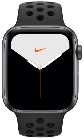 Часы Apple Watch Nike+ S5 GPS 44mm Space Gray Aluminum Case with Anthracite/Black Sport Band (MX3W2)
