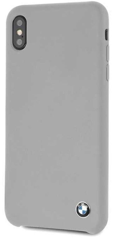 Чехол BMW iPhone X Signature Liquid Silicone Hard TPU Gray, картинка 2