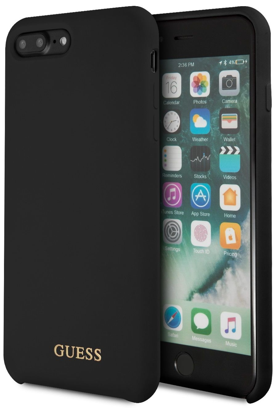 Чехол GUESS iPhone 7/8 Plus Silicone Collection Black