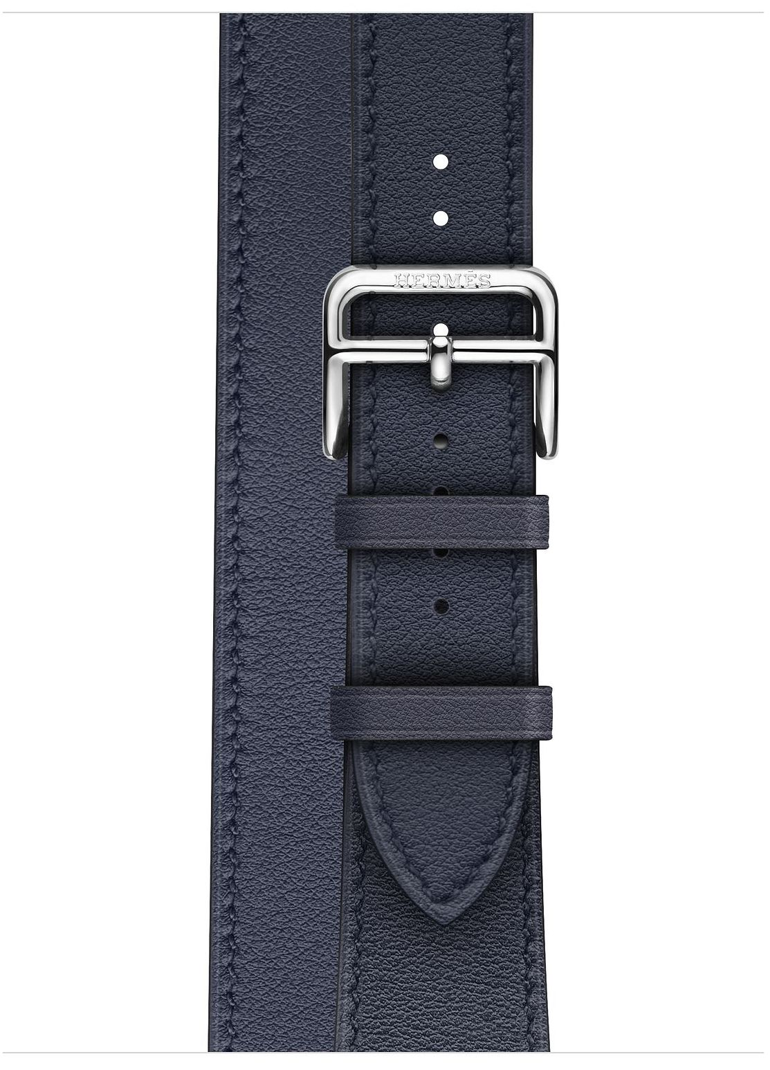 Часы Apple Watch Hermès Series 4 GPS+Cellular 40mm Stainless Steel Case with Bleu Indigo Swift Leather Double Tour (MU6Q2), картинка 3