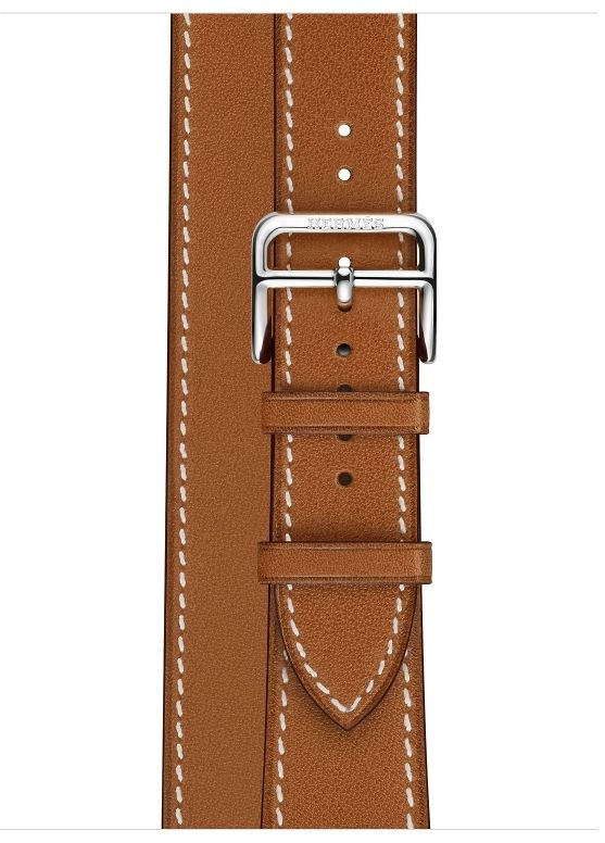 Часы Apple Watch Hermès Series 4 GPS+Cellular 40mm Stainless Steel Case with Fauve Barenia Leather Double Tour (MU6P2), картинка 3