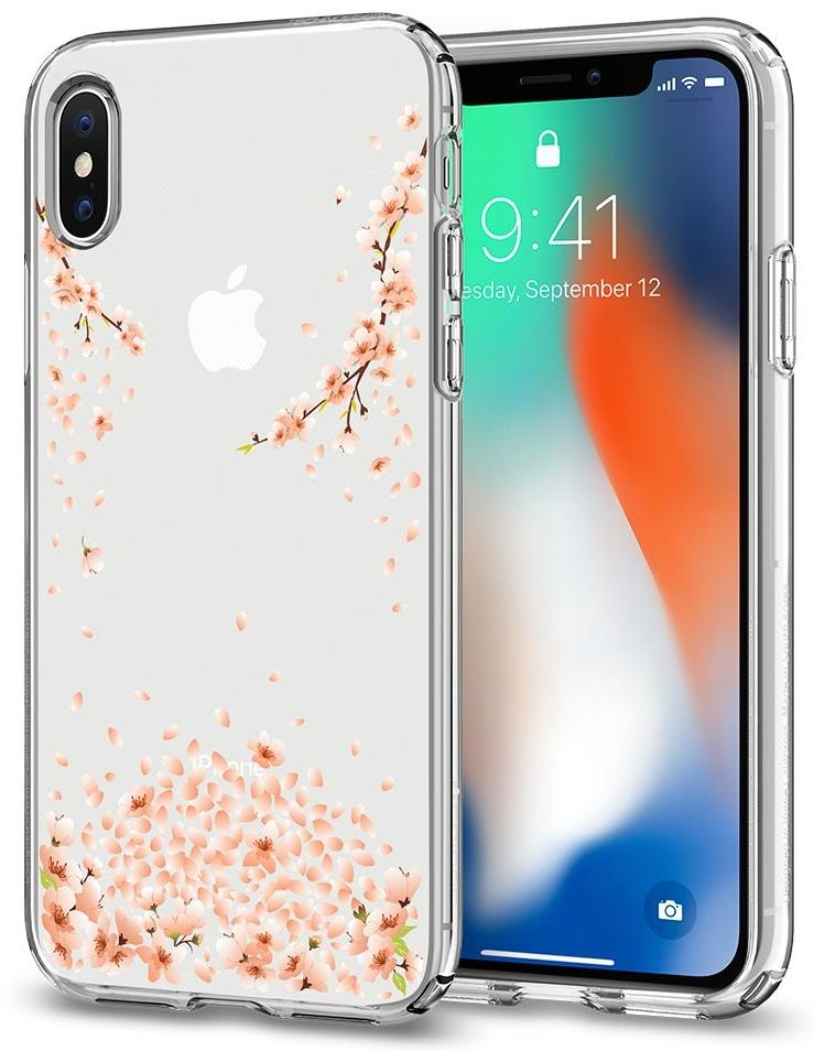 Чехол SGP iPhone X Liquid Crystal Blossom Crystal Clear