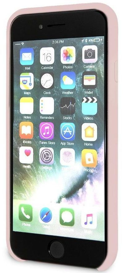 Чехол GUESS iPhone 7/8 Silicone Collection Light Pink, картинка 5