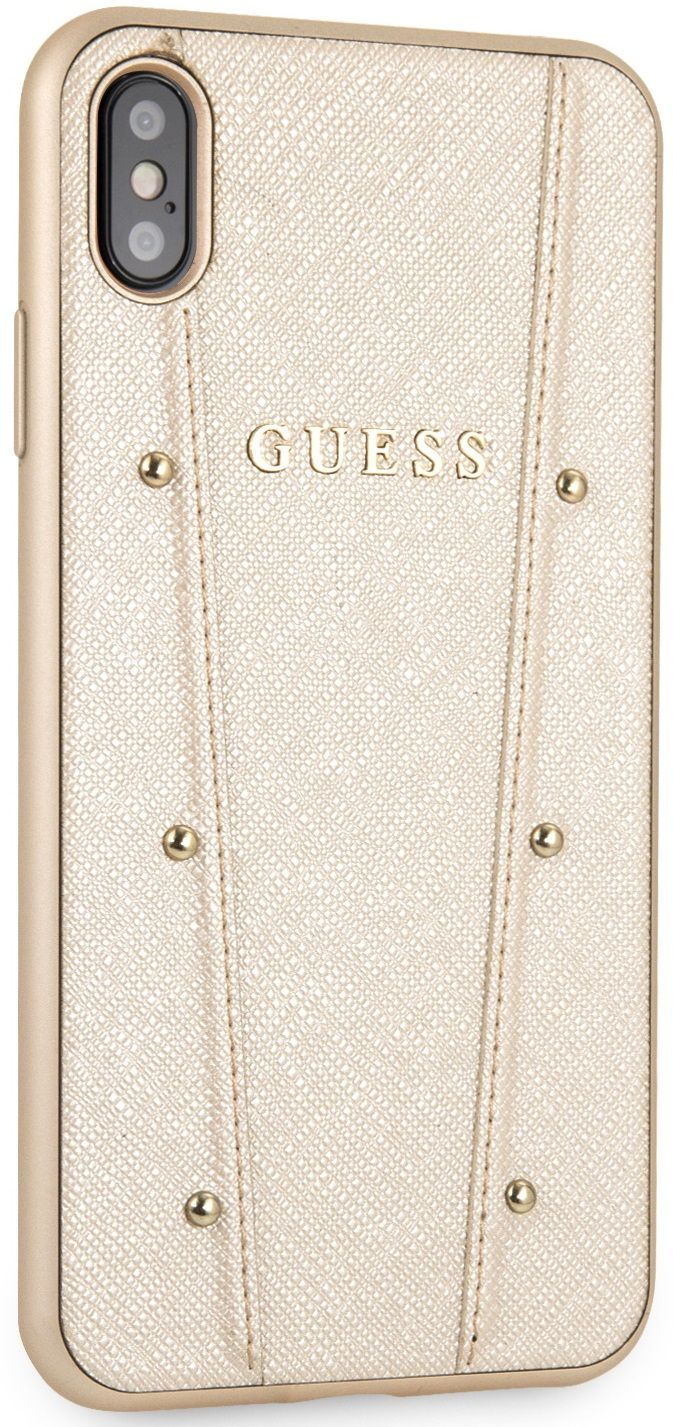 Чехол GUESS iPhone XS Max KAIA collection Hard золотой, слайд 6
