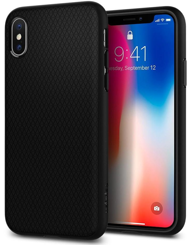 Чехол SGP iPhone X Liquid Air Matte Black