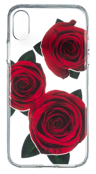 Чехол Guess iPhone X Flower desire Roses Red, картинка 1
