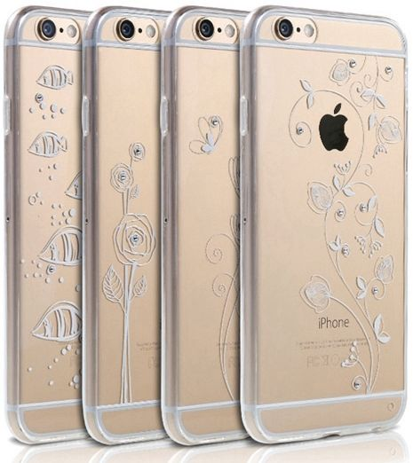 Чехол REMAX iPhone 6/6s Crystal TPU+PC - Flower
