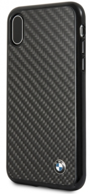 Чехол BMW iPhone X/XS Signature Real carbon Hard Black