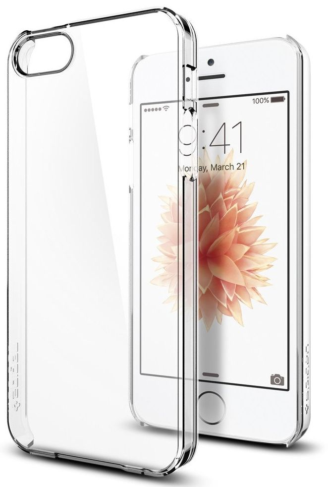 Чехол SGP  iPhone 5S/SE Thin Fit Crystal Clear