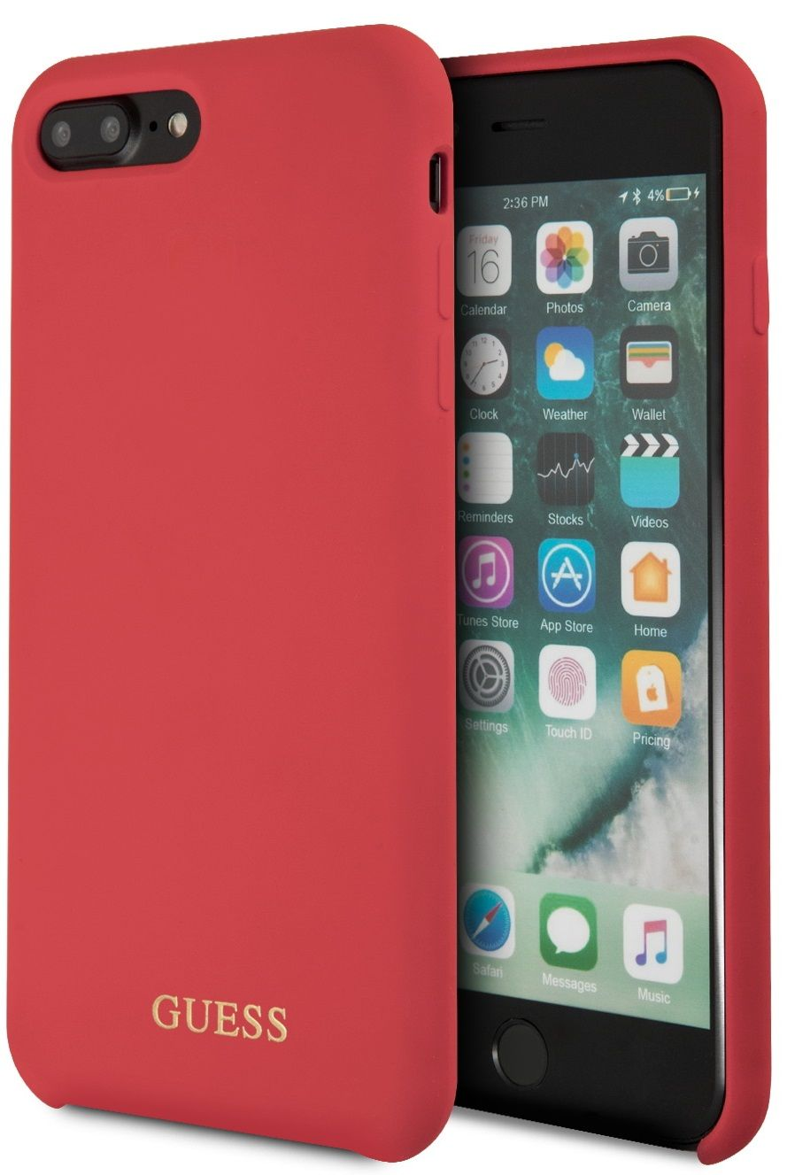 Чехол GUESS iPhone 7/8 Plus Silicone Collection Hard Red