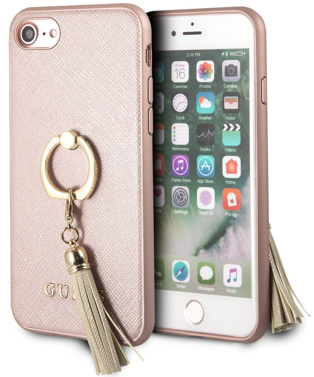 Чехол GUESS iPhone 7/8 Saffiano Hard Ring Pink